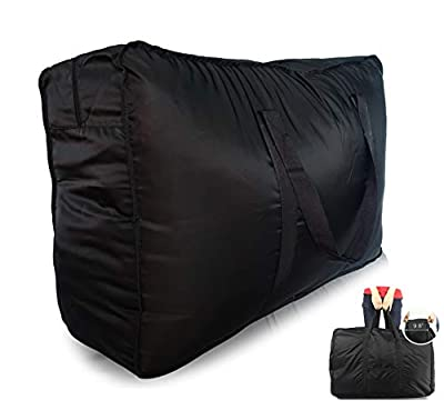 Plago 123Liter Professional Quality Nylon Extra Large Duffel Bag Lightweight Foldable Water Resistant Cargo for Travel College Folding Bike Tent Mattress Closet Storage