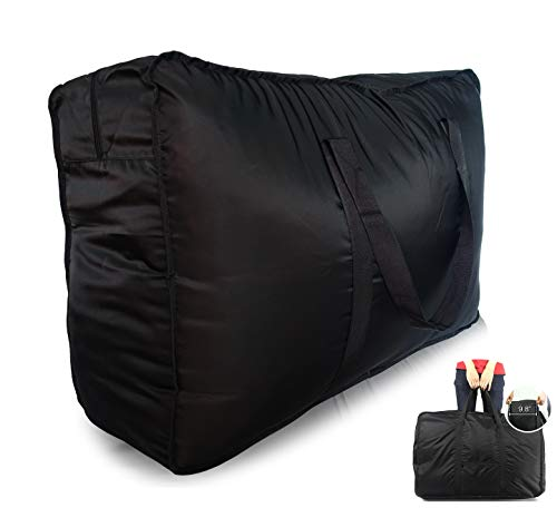 Plago 123Liter Professional Quality Nylon Extra Large Duffel Bag Lightweight Foldable Water Resistant Cargo for Travel College Folding Bike Tent Mattress Closet Storage