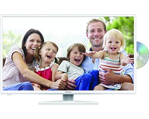 Lenco DVL-3242 32 Zoll (80cm) LED Fernseher mit DVD-Player - Triple Tuner (DVB-T/T2/S2/C) - Mit HDMI, USB, SCART und Cl+ Anschluss - Fernbedienung - weiß