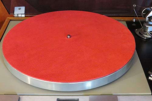 Audiophile Grade RED Leather Turntable Record Player Mat