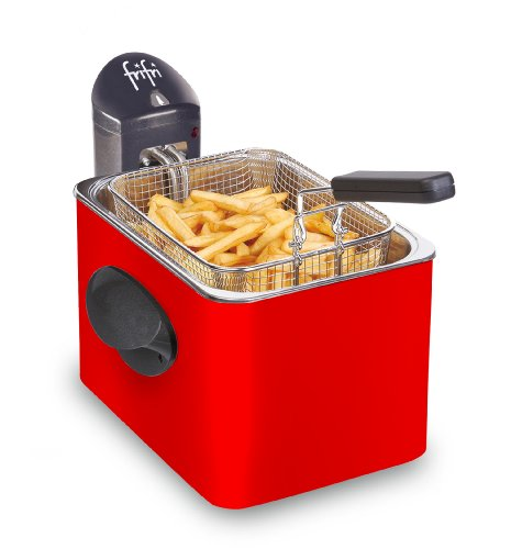 Frifri FI.1905RR Fritteuse, Metall, 3,5 l, 3.200 W, Rot