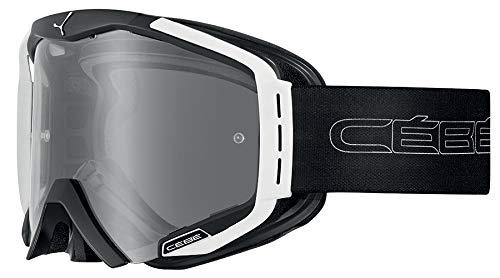Cébé Hurricane Gafas de Ciclismo Black/White Large, Adultos Unisex