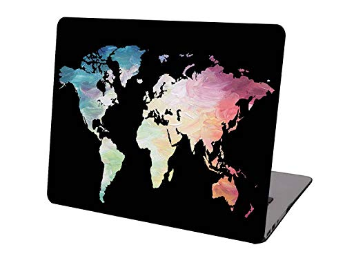 Laptop Case for Newest MacBook Pro 15 inch Model A1707/A1990,Neo-wows Plastic Ultra Slim Light Hard Shell Cover Compatible Macbook Pro 15 inch,World Map 2
