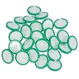 VILLCASE Filtro per Siringa da 25 Pezzi con Membrana in Nylon Idrofilo Filtrazione Non Sterile