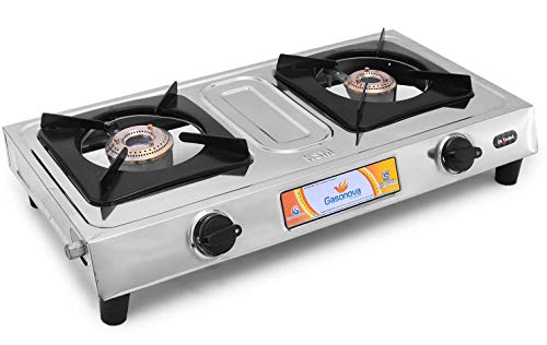 Gasonova Force Mini 2 Burners Stainless Steel Manual Ignition Gas Stove - 1 Year Warranty