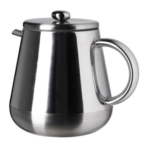 IKEA ANRIK - Coffee/tea maker, stainless steel - 1,2 l