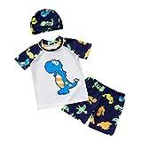 Toygogo Jungen Kinderbadebekleidung Rash Guard Badeanzug Mit Mütze - Weiß, 4XL