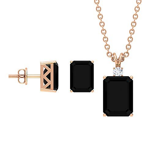 Rosec Jewels 18 quilates oro rosa round-brilliant-shape H-I Diamond
