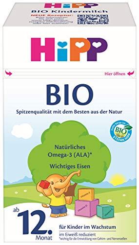 HiPP Bio Milchnahrung Kindermilch, 4er Pack (4 x 600 g)