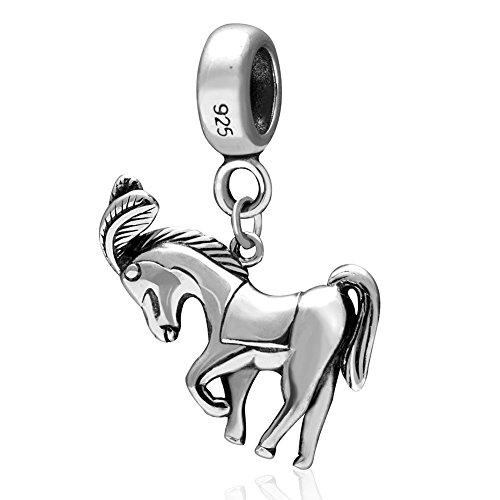 925 Sterling Zilveren Baby Paard Bedel Dier Bedel Huisdier Bedel Verjaardag Bedel voor Pandora Bedel Armband B