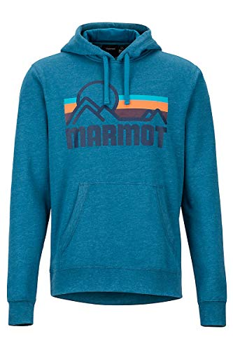 Marmot Herren Coastal Hoody Kapuzenpullover, Moroccan Blue Heather, XL