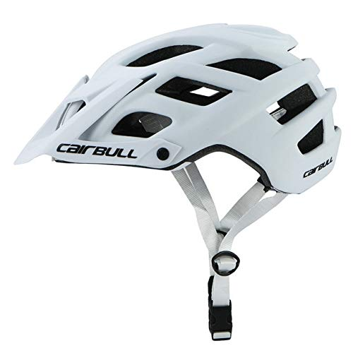 Helm Mountainbike Herren Fahrradhelm MTB Straßenhelm Integ-Moulded Cycle Cross Radhelm-White