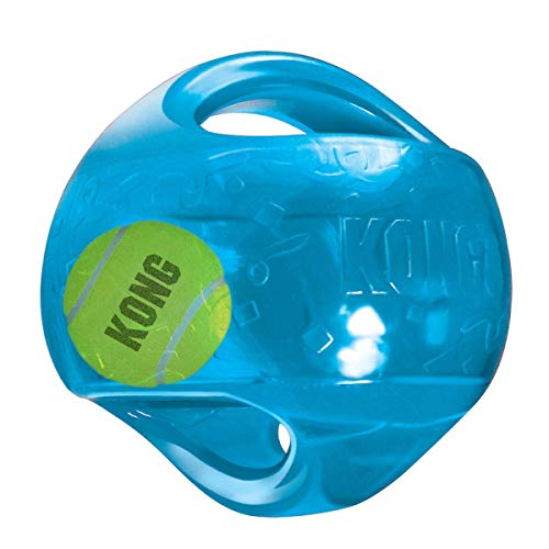 KONG - Jumbler Ball - Interactive Fetch Dog Toy with Tennis Ball - For Medium/Large Dogs (Assorted Colors)