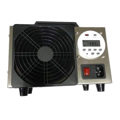 Generador de Ozono industrial 20.000 mg/h para superficies de hasta 250 m², Limpiador de ozono, Dispositivo de ozono para Habitaciones, Coches, Humo, y Mascotas. Vida útil de 20.000 horas