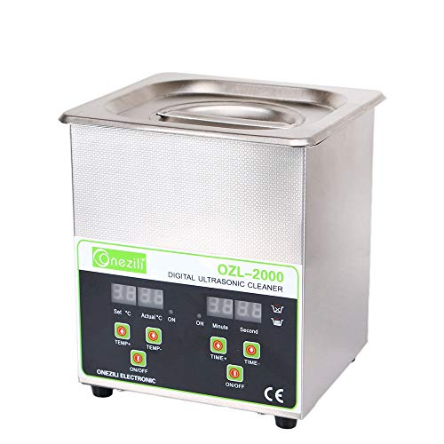 800ml/1.3L/2L Professional Ultrasonic Cleaner, Smart Ultrasonic Jewelry Cleaner with Timer Digital for Cleaning Jewelry,Eyeglasses,Tools,Watches,Dentures,Circuit Board,Guns Parts(2L)