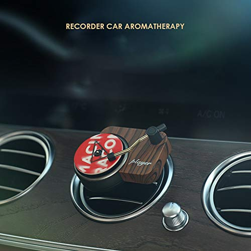 AKDSteel Car AroM-a-Therapy Rrecord Player Turntable Car Air Freshener Air Outlet AroM-a-Therapy Aroma Car Perfume Diffuser Cool
