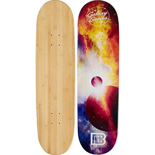 Bamboo Skateboards Eclipse Graphic Skateboard Deck Only - More Pop, Lasts Longer Than Maple, Eco Friendly 7.75