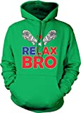 Relax Bro - Lacrosse Player Sports LAX Unisex Hoodie Sweatshirt (Kelly, Medium)