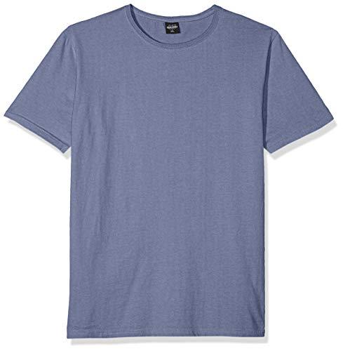Urban Classics Heavy Peached Tee T-Shirt, Bleu (Indigo 00438), Medium Homme