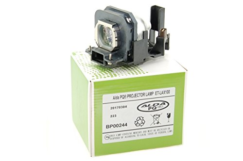 Alda PQ-Premium, Beamerlampe / Ersatzlampe kompatibel mit ET-LAX100 für PANASONIC PT-AX100, PT-AX100E, PT-AX100U, PT-AX200, PT-AX200E, PT-AX200U, TH-AX100 Projektoren, Lampe mit Gehäuse