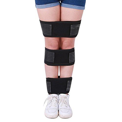 WANGXN Beinkorrekturgürtel Artefakt Beinform Korrekturgürtel O-Bein X-Bein-Korrektur Leggings mit Beingurten, schwarz, 1, XL
