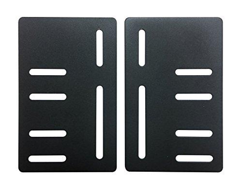Kings Brand Bed Frame Headboard Bracket Modification Modi-Plate, Set of 2 Plates