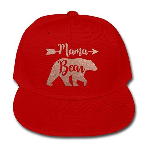 Whhfashion Mama Bear - Gorra de béisbol para niños y niñas, diseño de hip hop, para senderismo, ajustable, color negro