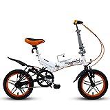 Bicicleta plegable para hombres y mujeres, mini bicicleta de montaña plegable de 14 pulgadas, marco reforzado de acero con alto contenido de carbono, ligero, portátil, bicicleta de cercanías, bicicle