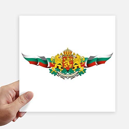DIYthinker Bulgarije Vlag Nationaal Embleem Vierkante Stickers 20Cm Muur Koffer Laptop Motobike Decal 4 Stks