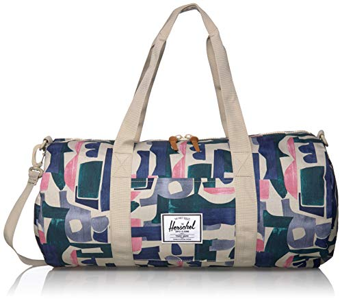 Herschel Sutton Duffel Bag, Mid Grey Crosshatch, Volume 28.0L