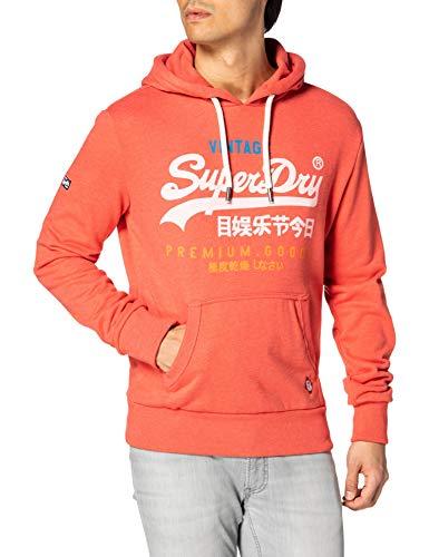Superdry VL TRI UB Hood Sweat à Capuche, Red Marl, XL Homme