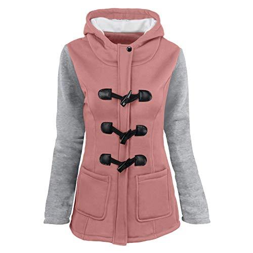 VRTUR Warme Damen Winter Jacke Steppjacke Übergangsjacke mit Kapuze gesteppt Taste...