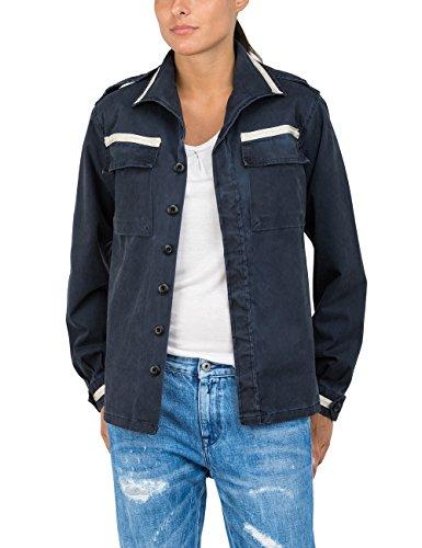 Replay Damen W2971 .000.80797G Bluse, Blau (Dark Blue 910), Large