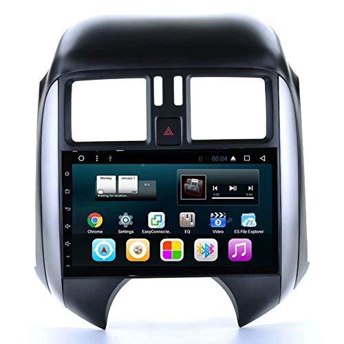 TOPNAVI Autoradio Quad Core 9 Pouces pour Nissan Sunny 2011 2012 2013 Android 7.1 Navigation Stéréo Auto avec GPS 32 Go R0M 2 Go de RAM WiFi 3G RDS Lien Miroir FM AM BT