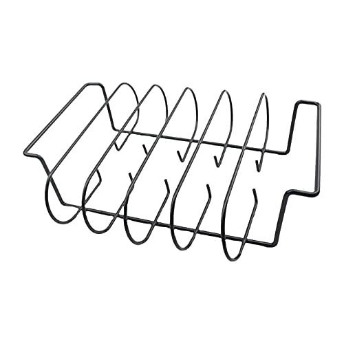 luminiu Spaare rib houder BBQ- spareribs houder – rib standaard voor het grillen non-stick metaal BBQ sparerib houder…