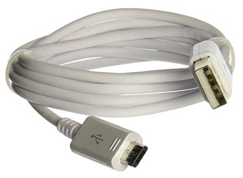 SAMSUNG - Cavo Dati Micro USB 2.0, Cavo Caricatore, Cavo di sincronizzazione, da USB 2.0A a Micro B, Galaxy S6/S6Edge/S6Edge +/S6Active S5Mini S4i9500/S4–Colore Bianco
