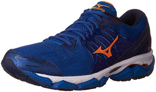 Mizuno Men's Wave Horizon Running Shoe, Royal/Orange, 10 D US