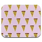 N\A Alfombrilla para ratón, Pretty Pizza Patrón de pestañas Perfil bajo Alfombrilla de ratón Delgada Alfombrilla de ratón, Alfombrilla de ratón para Juegos