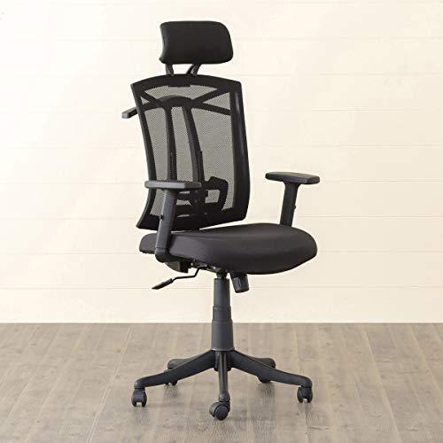 Home Centre Langley Mesh High-Back Chair, Black, 24 * 40 inches (BONAI-HB-W-Hanger)