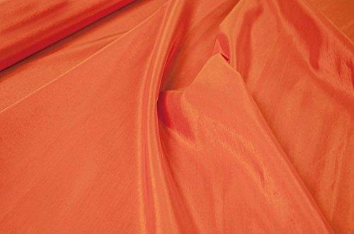 Meterware Synthetisches Gewebe, das die Shantung von Seide in der orange Farbe nachahmt (Anja col.76)