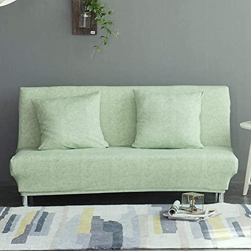 JYHQ Funda de sofá sin brazos,Cubierta de asiento de sofá cama gruesa,Para sala de estar,Stretch todo incluido plegable sin apoyabrazos funda
