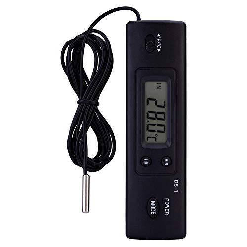 Jadpes Temperatuursensor, elektronisch, LCD, digitale temperatuurmeter voor water, koelkast, aquarium