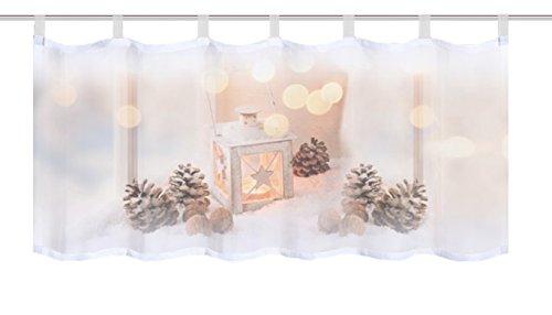 Home fashion lantaarn café, stof, natuur, 45 x 120 x 0,1 cm