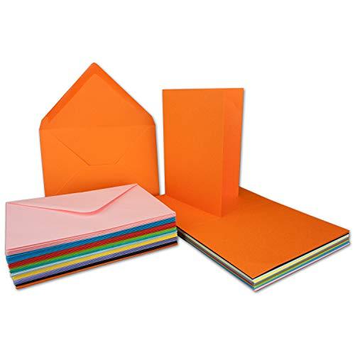 30er Set A6 Faltkarten - C6 Briefumschläge - 30 Klappkarten & 30 Umschläge aus verschiedenen Farben - P444 Serie Colours-4-you - Glüxx-Agent