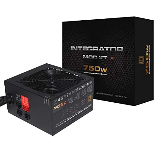 AeroCool Integrator Mod Xt 750W Power Supply, Semi-Modular, 80 Plus Bronze, Up to 85% Efficiency, 12...