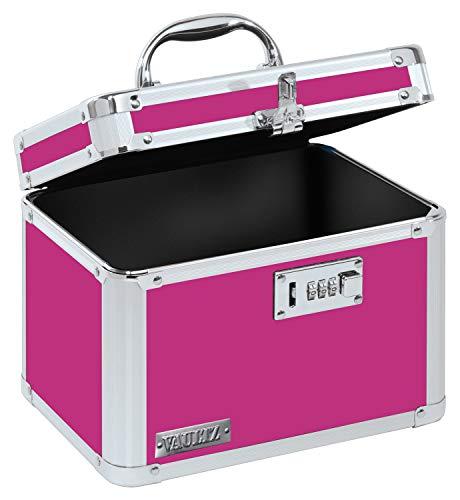 Vaultz Combination Lock Box, 7.75 x 7.25 x 10 Inches, Pink (VZ00802)