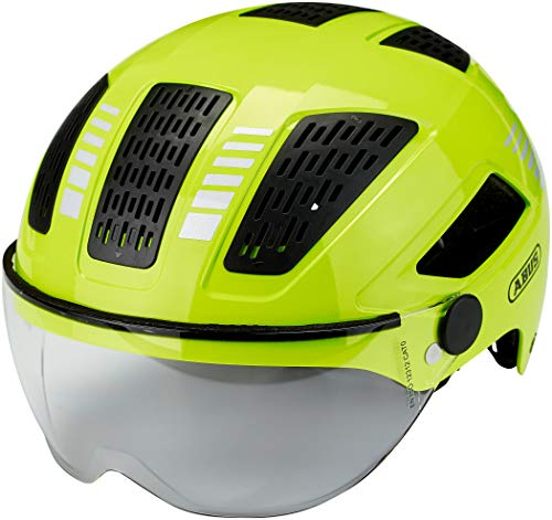 Abus Unisex– Erwachsene HYBAN 2.0 ACE Fahrradhelm, Signal Yellow, L