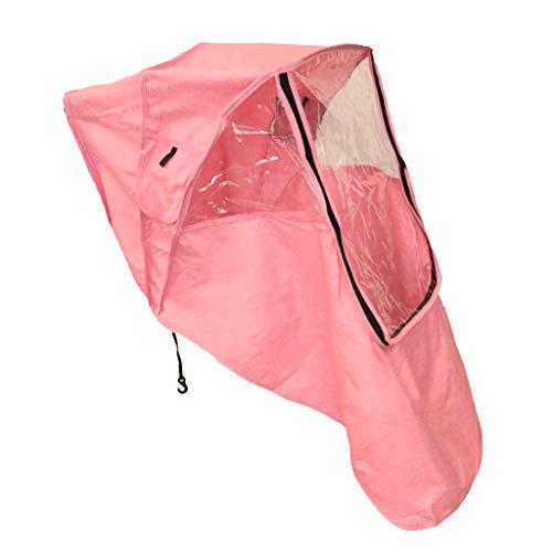 HomeDecTime Universal Baby Stroller Rain Cover Weather Waterproof - Rosado, Individual