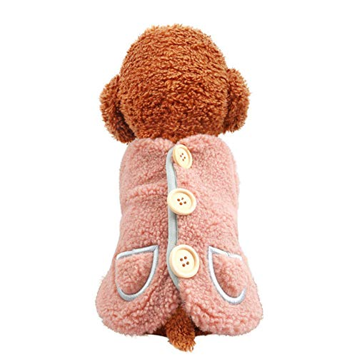 RQJOPE Ropa para mascotasChaleco de Invierno para Mascotas, Ropa para Perros, Abrigo clido bereber, Chaqueta, Traje de Yorkshire, Cachorro, caniche, bichn, Ropa para Schnauzer Pomerania