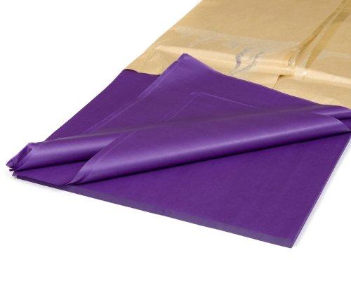 100 hojas de papel de seda de color morado sin ácidos de 18 x 28 pulgadas